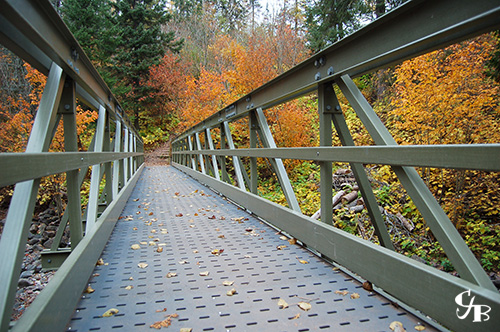 Photo: Superior Hiking Trail bridge on the Split Rock River in Minnesota. Photo by Chris J. Benson